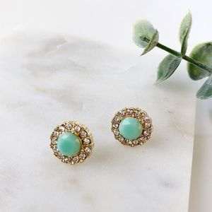 Mint Stud Earrings.